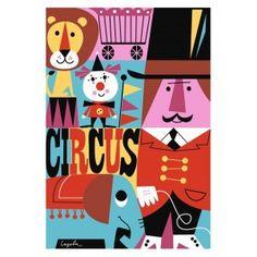 Lovely Poster Cirkus by Ingela P. Arrhenius @mosliving