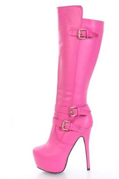 Neon Pink Stripper Shoe by Pleaser Shoes main image | my closet is ...