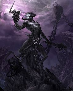 Molag Bal, Daedric Prince of domination and enslavement of mortals. He is also the first Vampire in Tamriel.