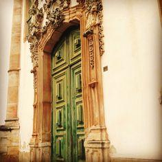 Ouro Preto Green church door - mesmerising