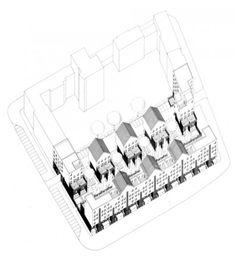 Oswald Mathias Ungers | Vivienda Social en la Lützowplatz | Berlin, Alemania 1979-1984 | IBA-87 Roosevelt Island, Stuck, 1984, Architectural Drawings, Om, Modern, Inspiration, Arquitetura, Social Housing