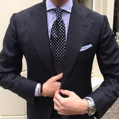 "One of our most essential business ties, ""Micro. Professional Outfits, Suit And Tie, Well Dressed Men, Gentleman Style, Mens Clothing Styles, Stylish Men, Dress Codes, Mens Suits, Dapper"