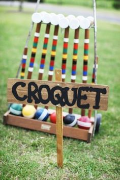 Classic backyard lawn games are perfect for keeping guests entertained while you take pictures at your backyard vow renewal