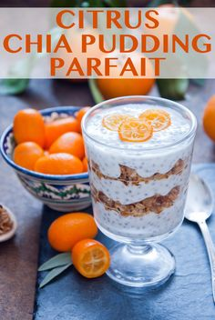 Citrus Chia Pudding Parfait - Refreshing flavors of kumquats or orange slices and a little bit of granola make this chia pudding really stand out. // breakfasts // chia seeds // simple easy morning recipes // beachbody // beachbody blog