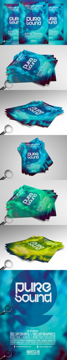 Pure Sound   Modern Flyer Template. Flyer Templates