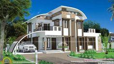 """Résultat de recherche d'images pour """"parking roof design in single floor kerala house"""""""