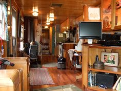 42 Vintage RV Remodel Mobile Homes - Outsideconcept. Mobile Home Living, Rv Living, Tiny Living, Home And Living, Mobile Home Renovations, Remodeling Mobile Homes, Home Remodeling, Spartan Trailer, Trailer Interior