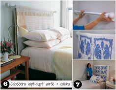http://www.casamontada.com.br/2014/03/18-ideias-para-decorar-cabeceira-com.html #DIY
