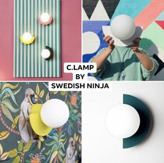 Seriously Playful. These playful wall lamps inject some serious personality into your space. Hang just one or play with the five colours and combine them all. With four different positions to hang and the option to wire directly into the wall your creativity can really take over.