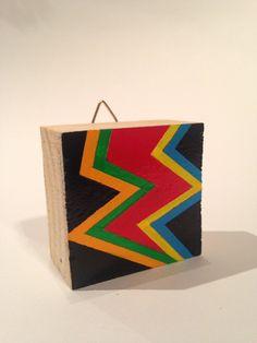 Items similar to Talisman Art Blocks, lucky art charms. Original hand painted design on wooden block. on Etsy Lucky Art, Dark Matter, Wooden Blocks, Paint Designs, Hand Painted, The Originals, Studio, Abstract, Artwork