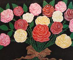 Artist: Ifanti Katerina title: Roses dim: 50x70 oil painting price: 900 euro Joomla Templates, Oil On Canvas, Euro, Gallery, Artist, Flowers, Plants, Blog, Roses