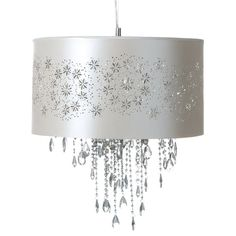 Kara Ceiling Pendant   $299  Fabric  Crystal  Assembly  Fully Assembled  Dimensions  49 x 49 x 38cm  Product Code  22959836