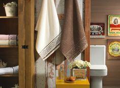 Jogo de toalha Talara. Barra Jacquard, gramatura 380 g/m².