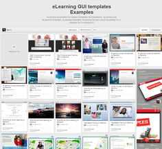 My eLearning GUI and Templates Board is updated!!! Follow it!  http://www.pinterest.com/mmonzeob/elearning-gui-templates-examples/