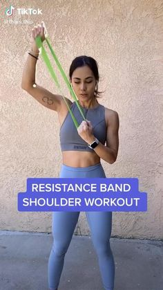 Fitness Workouts, Gym Workout Videos, Gym Workout For Beginners, Fitness Workout For Women, Sport Fitness, Butt Workout, At Home Workouts, Exercise Band Workouts, Band Workout For Arms