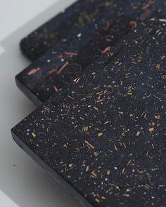 Terrazzo samples using metal scraps #reuse #terrazzo