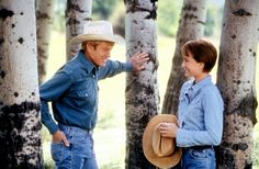 robert redford and kristen scott thomas on set of the horse whisperer see the man who inspired the movie: BUCK