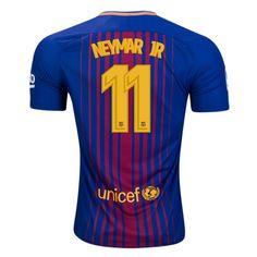 Nike Men's Neymar Jr Barcelona 17/18 Home Jersey Deep Royal Blue/University Gold