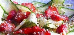 Carpaccio di zucchine e fragole al lime