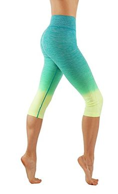 CodeFit Yoga Power Flex Dry-Fit Pants Workout Printed Leggings Ombre Print at Amazon Women's Clothing store: