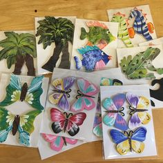 Pack of 3 butterflies $10.50 Pack of 2 Palm trees $7.00 Pack of 2 seahorses $7.00 Pack of 2 fishes $7.00