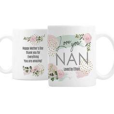 Personalised Ceramic Mug - Abstract Rose