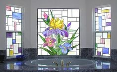 stained glass bathroom - Google Search