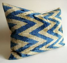 Ikat velvet pillow cover, $69