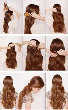 Half Up Half Down Hair Tutorial - simple and elegant