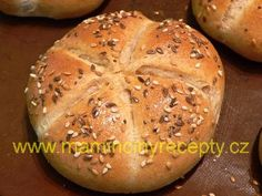 Špaldové kaiserky - My site Slovak Recipes, Pan Integral, Cooking Recipes, Healthy Recipes, Healthy Food, Bread Rolls, Baguette, Ham, Bakery