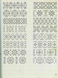Embroidery stitches border fair isles 57 new ideas Cross Stitch Bookmarks, Cross Stitch Borders, Crochet Borders, Cross Stitch Charts, Cross Stitch Embroidery, Cross Stitch Patterns, Fair Isle Knitting Patterns, Fair Isle Pattern, Knitting Charts