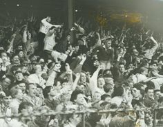 Another atmospheric scene from the old Boro 'Holgate End' - Team Games, Middlesbrough, 8 Year Olds, Europa League, Boro, Old Things, Scene, Football, Painting