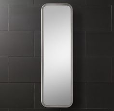 "RH Astoria Full Length Mirror Framed in solid aluminum Plated finish Mounting hardware included 20"" x 68""  $695"