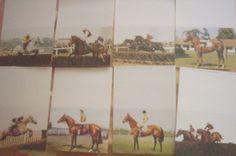 Horseracing Greetings Card showing Greatest Horses