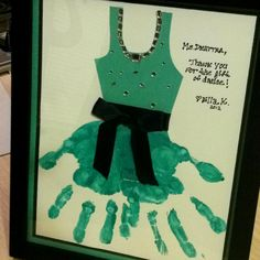 Made a blue version based of my pinterest find so it matches the studio colors. Dance teacher end of year gift.