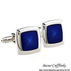 Cufflilnks cobre quadrado azul abotoaduras AG2684 grátis frete em Abotuaduras & clipes de Jóias no AliExpress.com | Alibaba Group