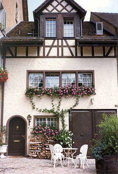 tudor cottage... Window boxes