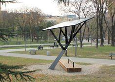 Black Tree solar powered phone charger by Miloš Milivojevic