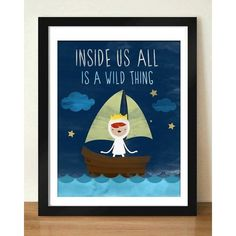 Digital Download Where the Wild Things Are Nursery Art print Print... ❤ liked on Polyvore
