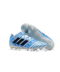 Adidas Nemeziz 17.1 FG FAST UNDERLAG Vit Blå Svart Fotbollsskor