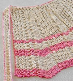 vintage crocheted apron