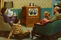 A family watching clean television