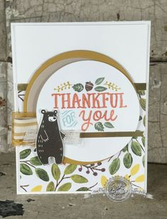 Thankful Forest Friends is the perfect set for fall with the leaves, acorns and cutest little forest friends you ever did see. See what I created today.