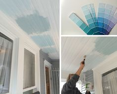 Haint blue colors for porch ceiling