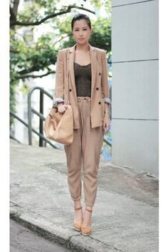 Camel-zara-blazer-bronze-wedges-shoes-dark-brown-pull-bear-intimate_400