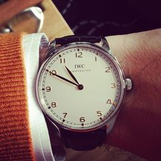 My @IWC Watches / @Independent World Portuguese Pure Classic. A sleeper in the collection.  (at HODINKEE Headquarters)