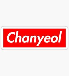 supreme exo chanyeol Sticker