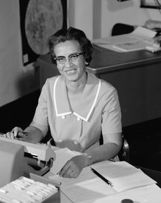 Mathematician Katherine Johnson at Work: NASA research mathematician Katherine Johnson is photographed at her desk at Langley Research Center in 1966. Johnson made critical technical contributions during her career of 33 years which included calculating the trajectory of the 1961 flight of Alan Shepard. She was awarded the Presidential Medal of Freedom on Nov. 24 2015.