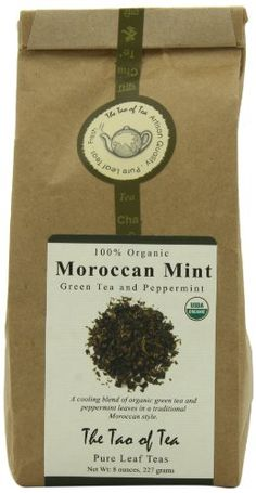 The Tao of Tea Moroccan Mint, Bags (Pack of *** Check out the image by visiting the link. (This is an affiliate link) Organic Herbal Tea, Organic Green Tea, Pure Leaf Tea, Drinking Tea, Tao, Gourmet Recipes, Mint Green, Peppermint, Moroccan
