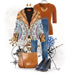 """""""Printed Blazer"""" by diane-hansen ❤ liked on Polyvore"""